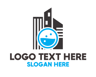 Business Center - Laundry City logo design