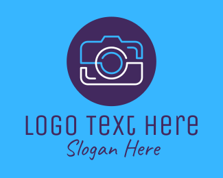 Digital Photography - Camera Simple Monoline logo design