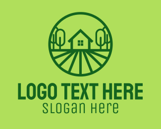 Farmland - Green House Property  logo design
