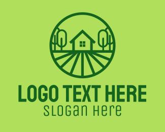 Lodge - Green House Property logo design