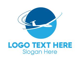 Globe - Blue Jet logo design