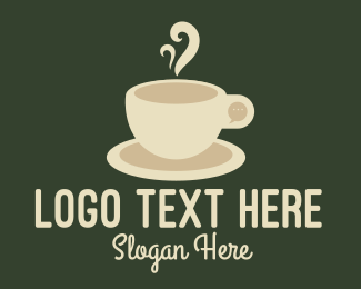 Grinder - Cream Coffee Chat logo design