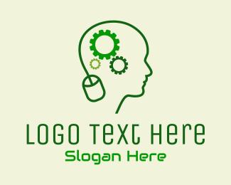 Technician - Computer Technician Mind logo design