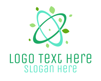 Atomic - Green Atom logo design