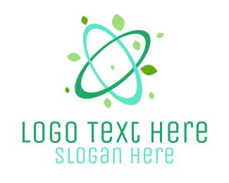 Atom - Green Atom logo design
