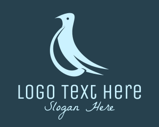 Matrimony - Blue Peaceful Dove logo design