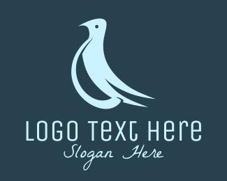 Peace - Blue Peaceful Dove logo design