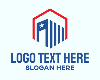 Patriotism - American Real Estate logo design