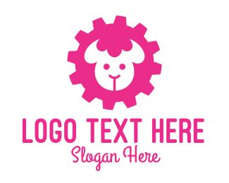 Cogwheel - Industrial Pink Sheep  logo design