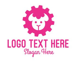 Cogwheel - Industrial Sheep  logo design