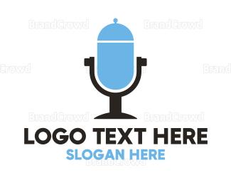 Tray - Food Radio  logo design
