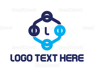 Cryptocurrency - Hexagon Tech Lettermark logo design
