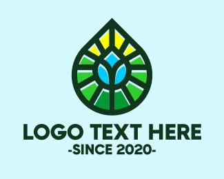 Oil And Gas - Nature Leaf Droplet logo design