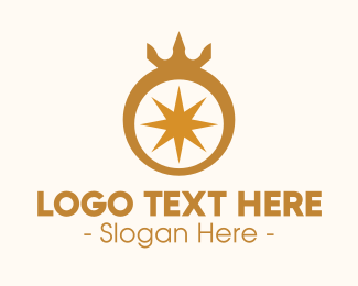 Ring - Gold Ring Crown logo design