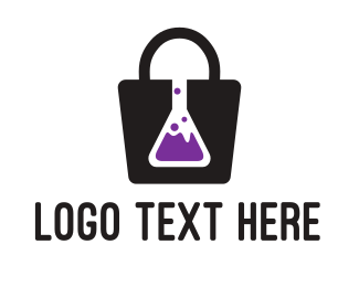 Biochemistry - Lab Shopping logo design
