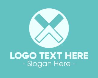 Letter - Letter X Arrow logo design