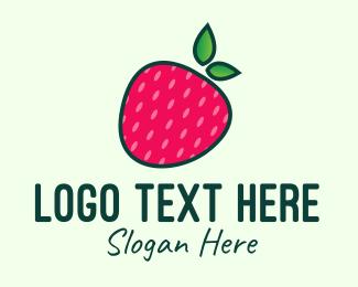 Strawberry - Red Organic Strawberry logo design