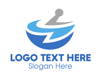 Blue And Gray - Blue Pharmacy logo design