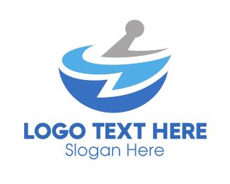 Mortar - Blue Pharmacy logo design