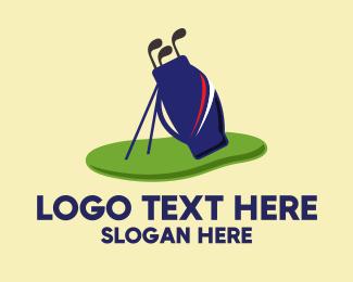 Sports - Golf Club Bag Equipment  logo design
