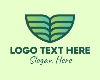 Environmentally Friendly - Green Environmental Leaf logo design