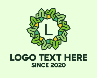 Natural Products - Nature Wreath Letter logo design