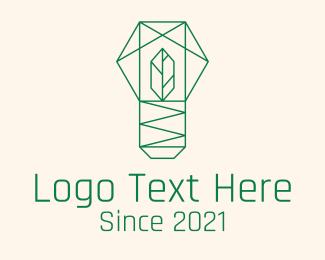 Gardening Tool - Geometric Leaf Garden logo design