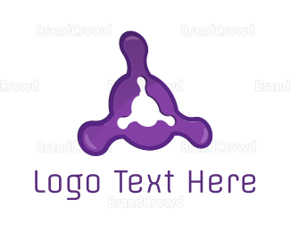 Fidget Spinner - Purple Fusion logo design