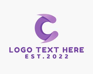 Egames - Purple Fang C logo design