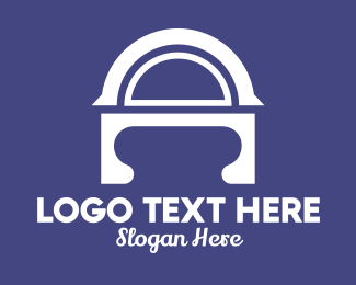 Mediterranean - Abstract Arch A Lettermark logo design