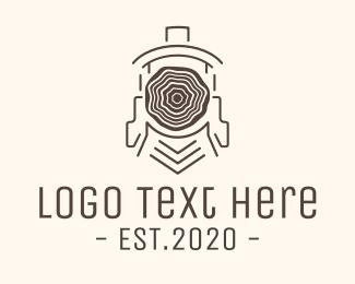 Trunk - Wood Train logo design