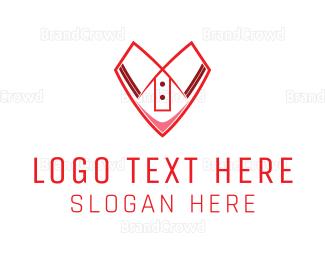 Dry Cleaner - Shirt Heart logo design