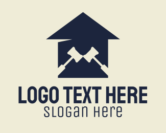 Lawfirm - Legal Gavel Courthouse logo design