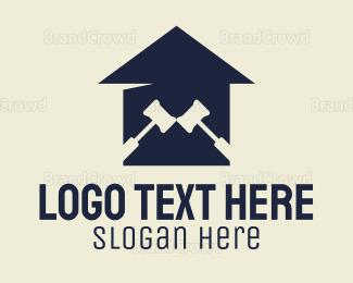 Carpenter - Blue Legal House logo design