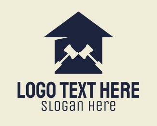 Legal - Legal Gavel Courthouse logo design