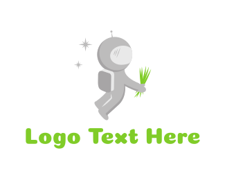 Astronaut - Space Lawn logo design