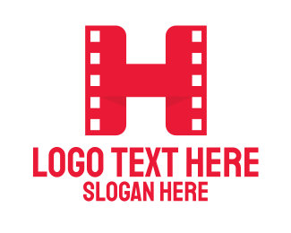 Hollywood - Red Film H logo design