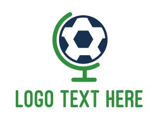World - Soccer World Global Ball logo design
