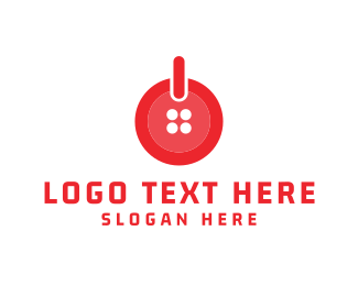 Button - Button On logo design