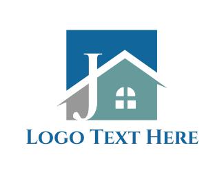 Letter J - Home Letter J logo design