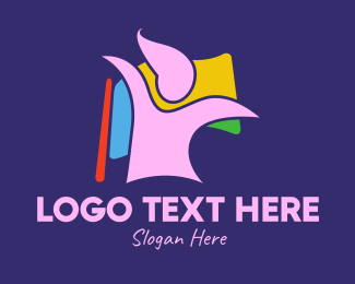 Glamorous - Colorful Lady Flag  logo design