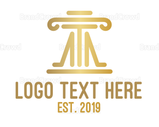 Equilibrium - Elegant Law Firm Pillar logo design