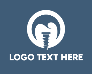 Screw - Tooth Implant logo design