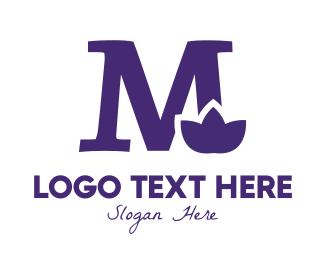 Naturalist - Violet M Flower logo design