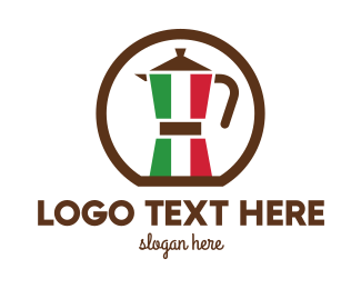 Coffee Maker - Italian Kettle  logo design