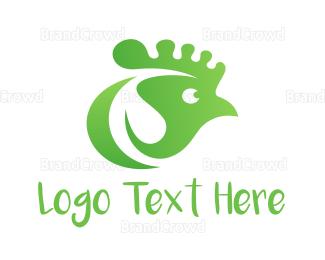 Hen - Green Chicken logo design