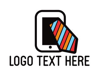 Tablet - Mobile & Tie logo design