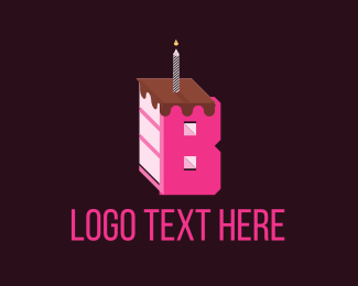 Cake Shop - Letter B Cake logo design