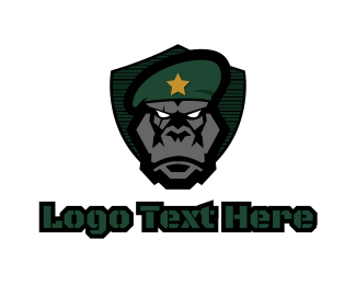Fictional Characater - Primate Commander logo design