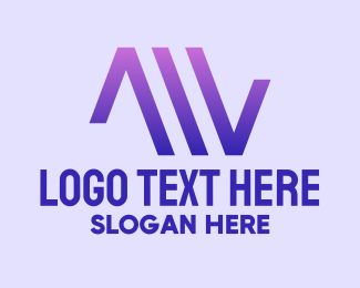 Music Streaming - Purple Gradient Triangles logo design